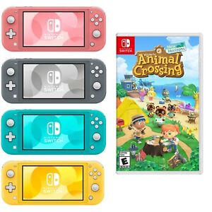 NEW-Nintendo-Switch-Lite-Animal-Crossing-PICK-SWITCH-COLOR