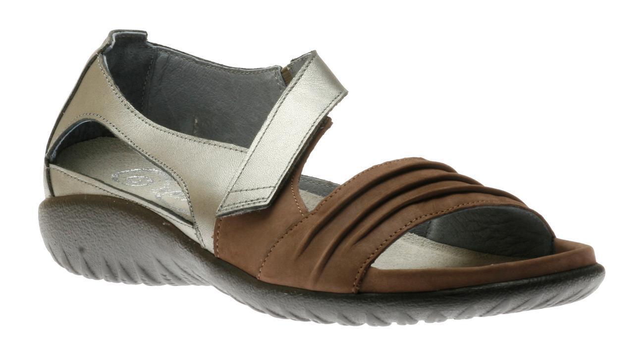 Naot Papaki Shitake sizes Nubuck Sterling Silver Sandal Damens sizes Shitake 5-11/36-42 NEW a834a3