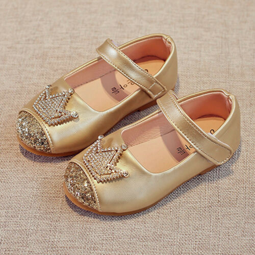 Toddler Shoes Girls Baby Beading Shoes Princess Crown Sandals Single Shoes XI
