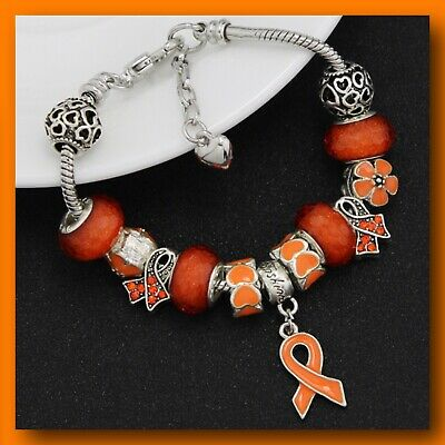 Multiple Sclerosis Ms Leukaemia Awareness Bracelet With Charm Ebay