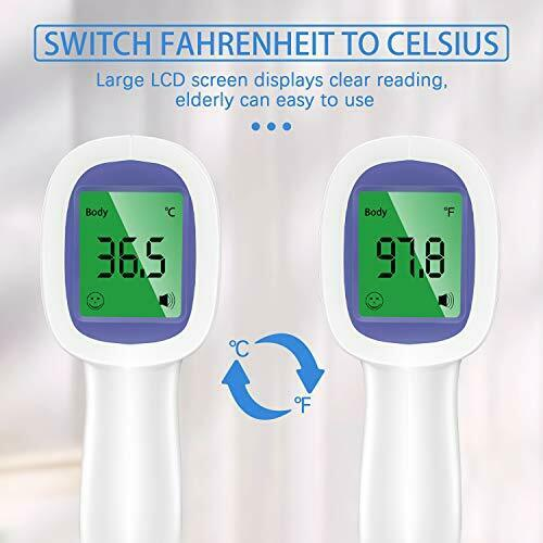 Thermometer for Adults No Touch Infrared Forehead Digital Thermometer for
