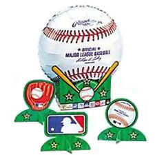 MLB BASEBALL FOIL BALLOON CENTERPIECE KIT (5pc) ~ Birthday Party Supplies Sports