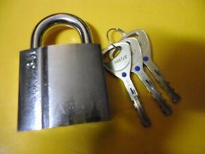 ABLOY-PL-341-25B-KD-HIGH-SECURITY-LOCK-CHROME-PLATED-BRASS-PADLOCK-w-3-KEYS