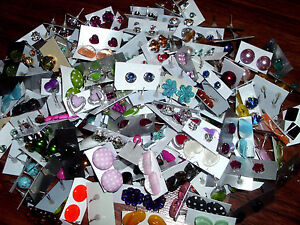 SPECIAL-OFFER-WHOLESALE-LOT-STUD-EARRINGS-50-PAIRS