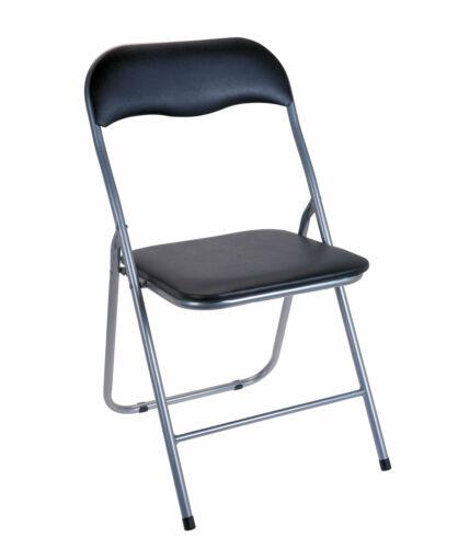 Klappstuhl Metall in schwarz Klapphocker Stuhl Gästestuhl Beistellstuhl Stühle