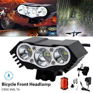 8000lumen-XM-L-T6-LED-Foco-Fronte-Bicicletta-bici-Luce-Ricaricabile-Faro-Lampada