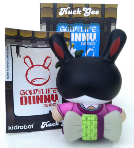 "DUNNY 3/"" or Life Series Huck Gee Geisha prune 2011 KIDROBOT Vinyl Figure"
