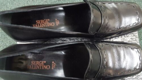 Valentino Eu Italy Noir 39b Made Taille Serge Mocassins In Femmes EAqBHH