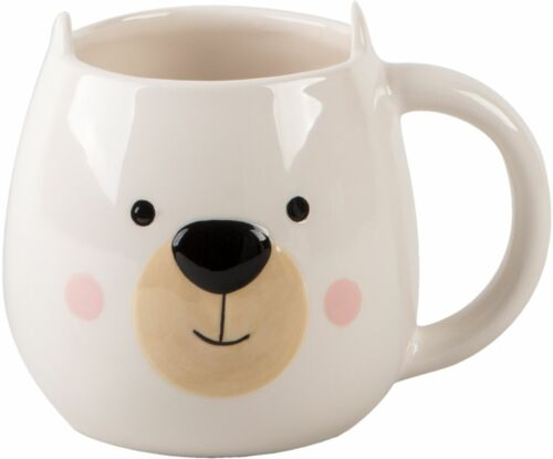 "16.5 Ounce White Bear 5.25/"" x 4.00/"" x 4.00/"" Figural Mug Home Decor"