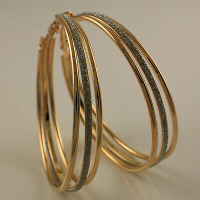 """29mm Gift/"""",2200 9K 9ct Yelllw /""""Gold Filled/"""" Ladies Girls  Small Hoop Earrings"""