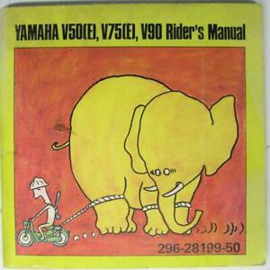 YAMAHA-V50-E-V75-E-V90-1971-296-28199-50-Motorcycle-Owners-Handbook