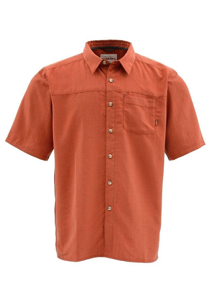 Simms LONG HAUL Short Sleeve Shirt  Simms orange NEW  Closeout Size Medium