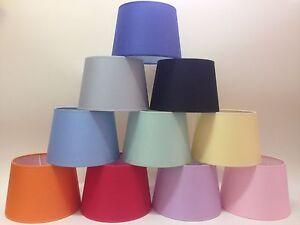Paralume Impero 25cm In Cotone Colori Vari Per Lampada Da Tavolo Terra Appl Ebay