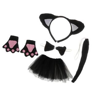 Details Sur Costume Noel Pour Fille Enfant Deguisement Xmas Bandeaux Chat Oreilles