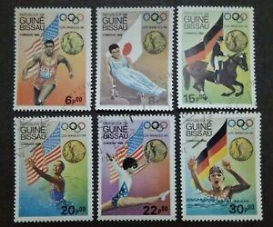 Guine-Bissau-1984-Olympic-Gold-Medallists-Los-Angeles-USA-6v-Used