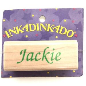 JACKIE-Inkadinkado-Name-Personalized-Calligraphy-Rubber-Stamp-Wood-Mounted-7390