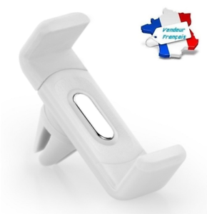 Support Grille Aération Voiture Universel BLANC pour iPhone Samsung GPS ...