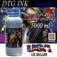 1000ml CYAN INK DTG VIPER DuPont Style Textile Inks Direct To Garment Printers