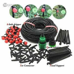 VS2# 5-25m Water Irrigate Kit Micro Drip Watering System Automatic Plant Garden