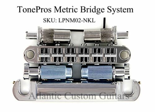 NICKEL LPNM02-NKL TonePros METRIC Pre-Notched Bridge /& Tailpiece Set