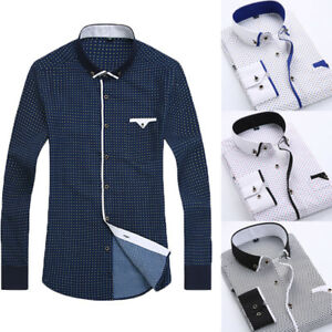 New-Fashion-Mens-Luxury-Stylish-Casual-Dress-Slim-Fit-T-Shirt-Casual-Long-Sleeve