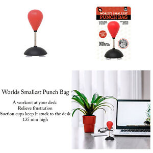 World-Smallest-Novelty-Office-Home-Desktop-Stress-Relief-Mini-Punch-Bag-Gift