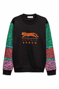 Beaded Tiger M Jungle Stripe m Kenzo Maniche Maglione H X Felpa Zip Jumper 7qtIX