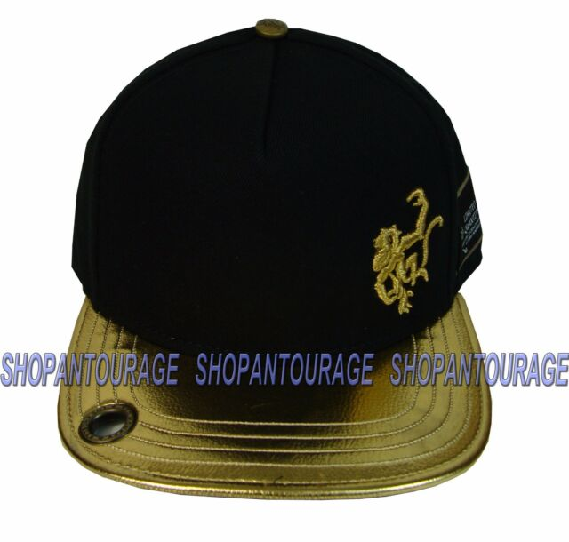 b9b8a18f0eb RED MONKEY Old Gold Flat Visor RM1060N Limited Edition New Fashion Black Hat  Cap