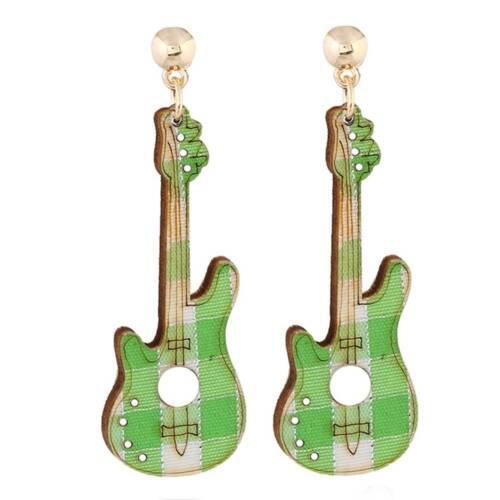 5 Couleurs Bois Violon Guitare Multicolore Charm Pendentif Boucle d/'oreille femmes À faire soi-même Bijoux