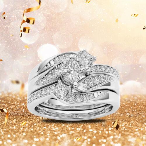 Ring Round Diamond Wedding Band Anniversary Gift Accessory Rings Size 5-11 XI