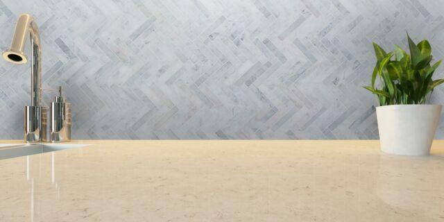 30pcs 1x6 Carrara White Herringbone