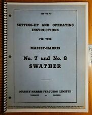 Massey Harris 7 8 Swather Windrower Setting Up Inst Amp Operating Manual 455