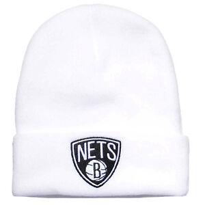 NUOVO Mitchell /& Ness Brooklyn New York Invernale Berretto Beanie NBA Nero//Bianco