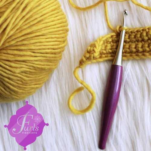 D 3.25 mm Furls :Odyssey Purple Crochet Hook: