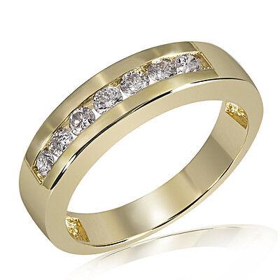 Goldmaid Ring Trauring 585er Gelbgold 7 Brillanten 0,50 ct. Memoire Echtschmuck