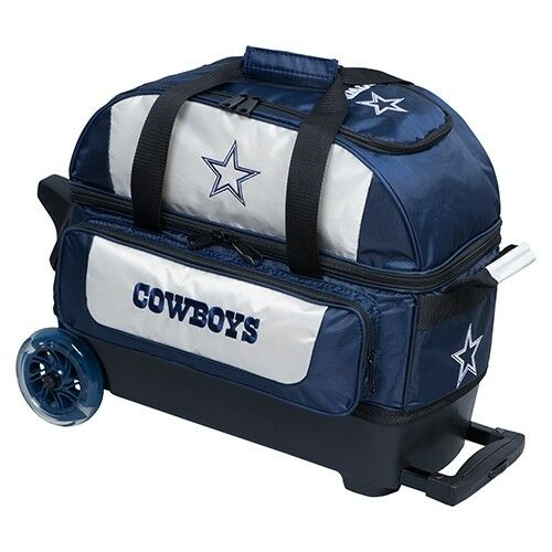 Kr Strikeforce NFL Dallas Cowboys 2 Ball Roller Bowling Bag  3835bfb58
