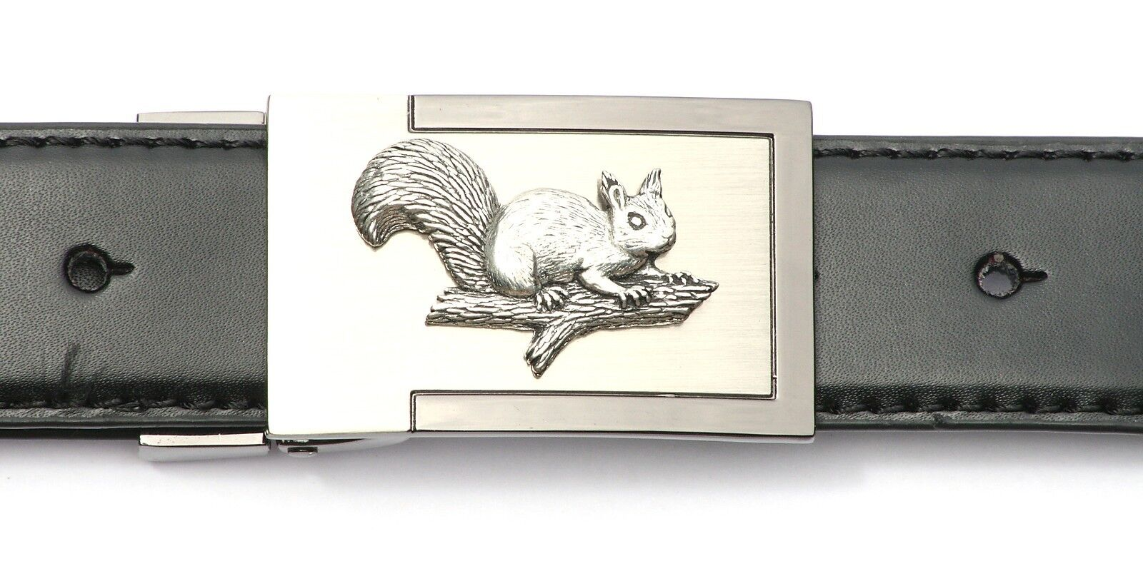 Squirrel Belt Buckle and Leather Belt in Gift Tin Ideal Shooting Present 343