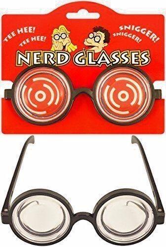Nerd Geek Unisex Fancy Dress Novelty Glasses