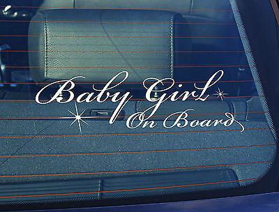La estática coche ventana sign//decal Baby Girl Graffiti a bordo de 100 Mm X 250mm
