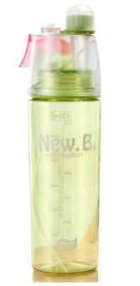 New 400 Ml Spray Sports Water Bottl Kids school Portable Climbing Plastic