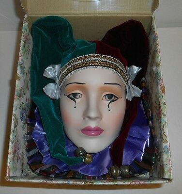 Thomco Porcelain Doll Jester Face 1991 D-1291-M In Box