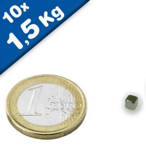 N45 DIAMETRAL MAGNETISIERT 10x5 mm MIT 5 mm BOHRUNG 100x NEODYM RING MAGNET