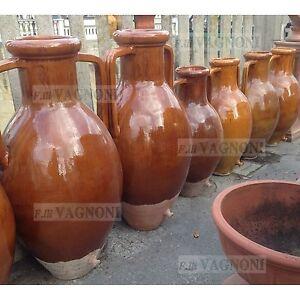 Capasone pugliese orcio anfora in terracotta smaltata vaso for Anfora giardino