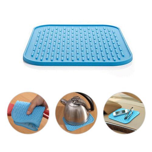 Holder Mat Silicone Kitchen Trivet Pot Straightener Heat Non-slip Resistant GH