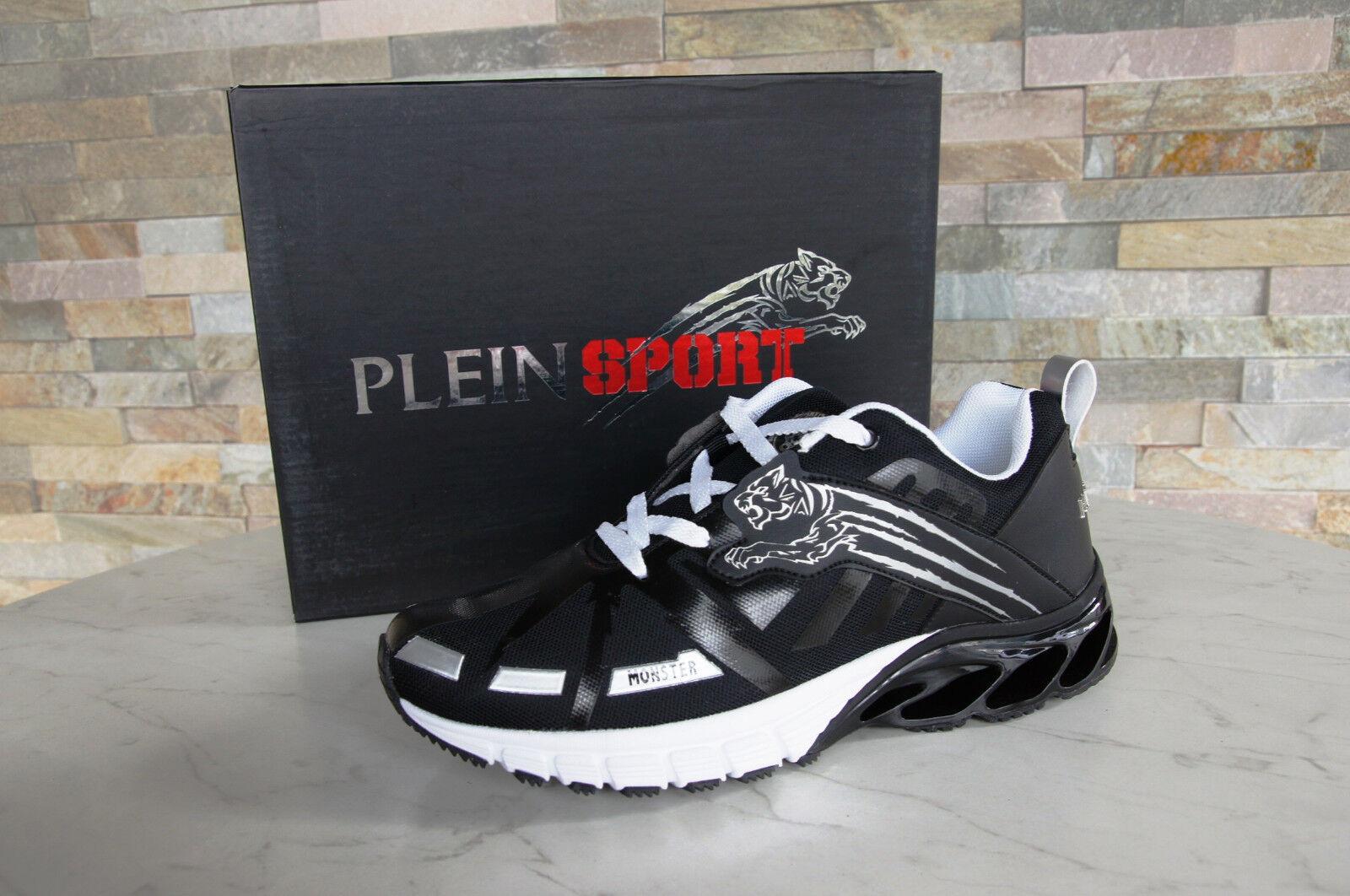 PLEIN SPORT EU 41  US 8 UK 7.5 Turnschuhe Schuhe RUNNER schwarz neu ehem