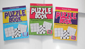 TRAVEL-SIZE-PUZZLE-BOOK-CONTAINS-WORD-SEARCH-CROSSWORD-amp-SUDOKU-PUZZLES-NEW