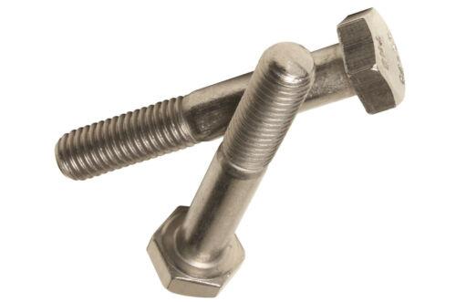 M16 x 120 Hexagon Head Bolt Part Thread Bolts A2 Stainless DIN 931-1 pack each