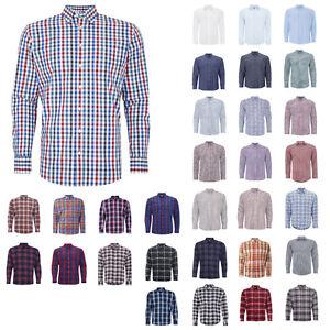 Montego-Fittted-Freizeithemden-mit-verschiedenen-Mustern-Herren-Hemd-NEU