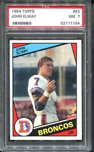 1984-Topps-63-John-Elway-RC-PSA-7-HOF-Denver-Broncos