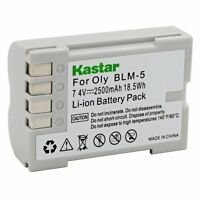 1x Kastar Battery For Olympus Blm-5 Ps-blm5 C-5060 C-7070 C-8080 E-1 E-500 E-510